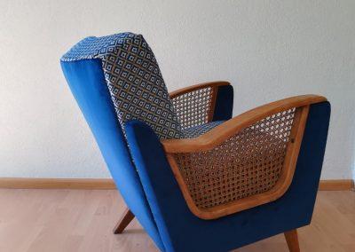 Neubezug Sessel nachher - Referenz Autosattlerei Liehr, Wehr