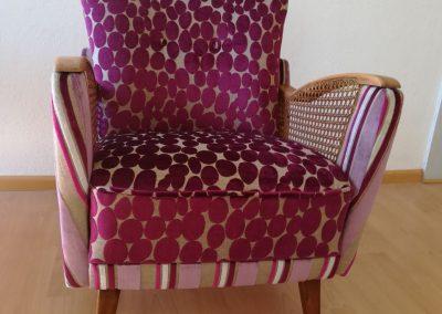 Neubezug Sessel nachher - Neubezug Sessel, Referenz Autosattlerei Liehr, Wehr
