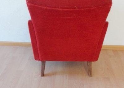 Neubezug Sessel vorher - Referenz Autosattlerei Liehr, Wehr