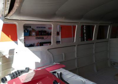 VW Bus T1 Himmel, Referenz Autosattlerei Liehr, Wehr
