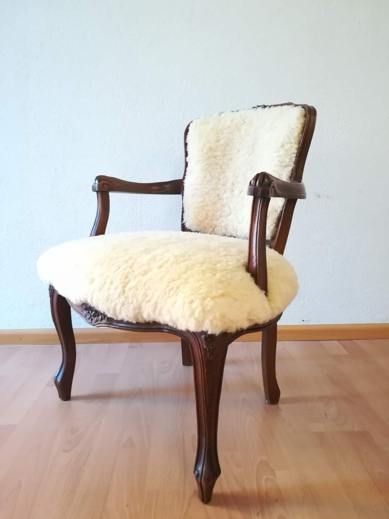 stuhl mit fell neu bezogen autosattlerei liehr in wehr. Black Bedroom Furniture Sets. Home Design Ideas