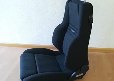 Vorher - Recaro (Dreh)-Sitz Porsche Cayenne