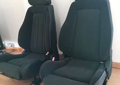 BMW E30 Neubezug Sitze - nachher 2